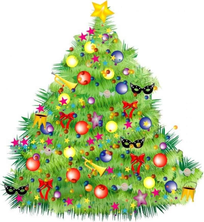 Прикольная картинка, картинка новогодняя елка для детей